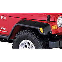 10029-07 Front, Driver and Passenger Side Pocket Style for Jeep Series Fender Flares, Black