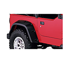 10030-07 Rear, Driver and Passenger Side Pocket Style for Jeep Series Fender Flares, Black