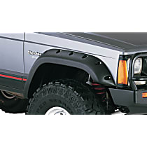 Front, Driver and Passenger Side Bushwacker Cut-out for Jeep Fender Flares, Black