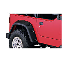 10042-07 Rear, Driver and Passenger Side Pocket Style for Jeep Series Fender Flares, Black