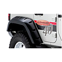 10044-02 Rear, Driver and Passenger Side Pocket Style for Jeep Series Fender Flares, Black