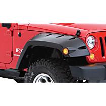Front, Driver and Passenger Side Bushwacker Pocket Style for Jeep Fender Flares, Black