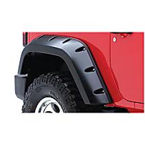 10046-02 Rear, Driver and Passenger Side Bushwacker Pocket Style for Jeep Fender Flares, Black