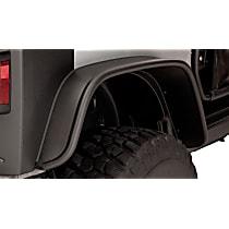 10052-07 Rear, Driver and Passenger Side Bushwacker Flat Style for Jeep Fender Flares, Black