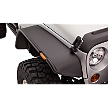10053-07 Front, Driver and Passenger Side Bushwacker Flat Style for Jeep Fender Flares, Black