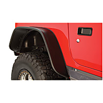 10056-07 Rear, Driver and Passenger Side Flat Style for Jeep Series Fender Flares, Black