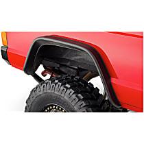 10064-07 Rear, Driver and Passenger Side Bushwacker Flat Style for Jeep Fender Flares, Black