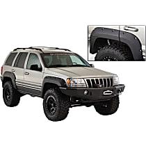 Rear, Driver and Passenger Side Bushwacker Cut-out for Jeep Fender Flares, Black