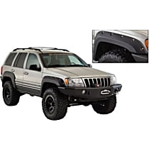 Front and Rear, Driver and Passenger Side Bushwacker Cut-out for Jeep Fender Flares, Textured Black