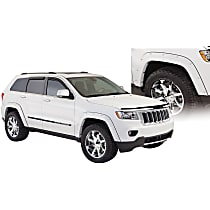 Front and Rear, Driver and Passenger Side Bushwacker Pocket Style for Jeep Fender Flares, Black