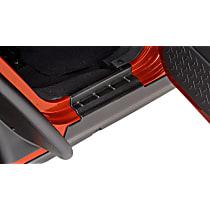 Bushwacker 14012 Rocker Panel Guards - Black, Dura-Flex(R) 2000 TPO, Direct Fit, Set of 2