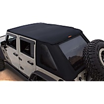 14925 Bushwacker Jeep Trail Armor Black Twill Soft Top - Frameless Design