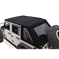 14935 Bushwacker Jeep Trail Armor Black Twill Soft Top - Frameless Design