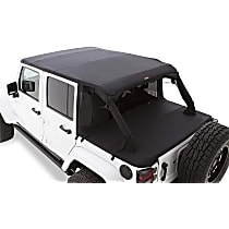 15235 Bushwacker Jeep Trail Armor Black Twill Soft Top - Frameless Design