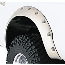 Rear, Driver and Passenger Side Bushwacker Cut-out Fender Flares, Black