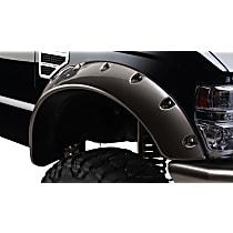 Front, Driver and Passenger Side Bushwacker Cut-out Fender Flares, Black