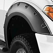 Front, Driver and Passenger Side Bushwacker Pocket Style Fender Flares, Black