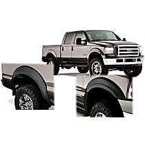 Front and Rear, Driver and Passenger Side Bushwacker OE style Fender Flares, Black