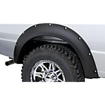 Rear, Driver and Passenger Side Bushwacker Pocket Style Fender Flares, Smooth Black