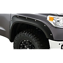 Front, Driver and Passenger Side Pocket Style Series Fender Flares, Black