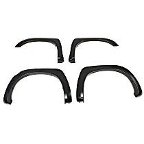 Front and Rear, Driver and Passenger Side OE Style Series Fender Flares, Black