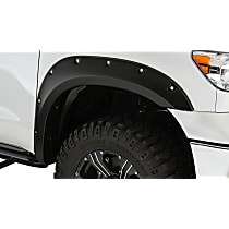 Front and Rear, Driver and Passenger Side Bushwacker Pocket Style Fender Flares, Black