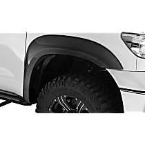 Front and Rear, Driver and Passenger Side Bushwacker Extend-A-Fender Fender Flares, Black