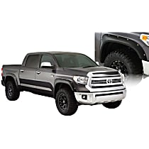 Front and Rear, Driver and Passenger Side Pocket Style Series Fender Flares, Black