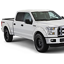 Front and Rear, Driver and Passenger Side Pocket Style Painted Series Fender Flares, White
