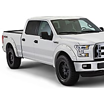 Front and Rear, Driver and Passenger Side Bushwacker Pocket Style Painted Fender Flares, White