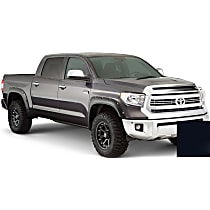 Front and Rear, Driver and Passenger Side Pocket Style Painted Series Fender Flares, Black