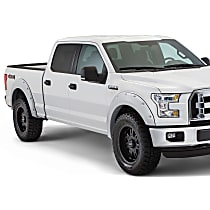 Front and Rear, Driver and Passenger Side Pocket Style Painted Series Fender Flares, Silver