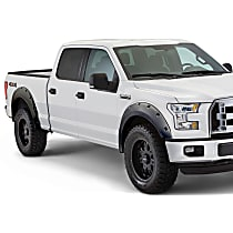 Front and Rear, Driver and Passenger Side Pocket Style Painted Series Fender Flares, Gray