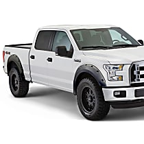Front and Rear, Driver and Passenger Side Bushwacker Pocket Style Painted Fender Flares, Gray