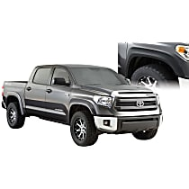 Front and Rear, Driver and Passenger Side Extend-A-Fender Series Fender Flares, Black