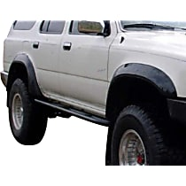 Front and Rear, Driver and Passenger Side Bushwacker Extend-A-Fender Fender Flares, Black