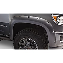 Front, Driver and Passenger Side Bushwacker Pocket Style Fender Flares, Black