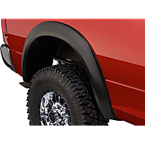 50036-02 Rear, Driver and Passenger Side Extend-A-Fender Series Fender Flares, Black