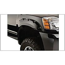70013-02 Front, Driver and Passenger Side Bushwacker Pocket Style Fender Flares, Black