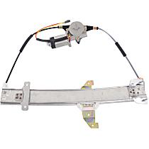 Rear, Passenger Side Power Window Regulator, With Motor