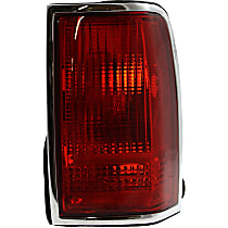 Passenger Side Tail Light, Without bulb(s) - Red Lens, w/o Emblem Provision