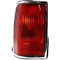 Driver Side Tail Light, Without bulb(s) - Red Lens, w/o Emblem
