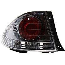 Driver Side, Outer Tail Light, Without bulb(s) - Clear & Red Lens, Sedan