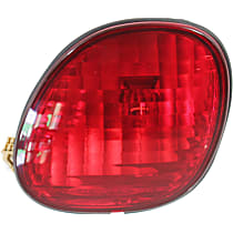 Passenger Side, Inner Tail Light, With bulb(s) - Red Lens