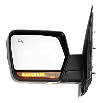 Mirror Power Folding Heated - Driver Side, In-housing Signal Light, Chrome