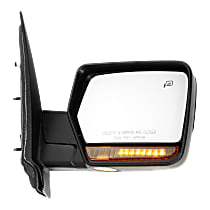 Mirror Power Folding Heated - Passenger Side, In-housing Signal Light, Chrome