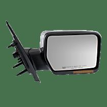 Mirror Manual Folding Heated - Passenger Side, Power Glass, In-housing Signal Light, Chrome