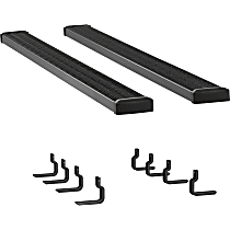 Luverne 7 in. Grip Step Running Boards - Powdercoated Textured Black, Set of 2