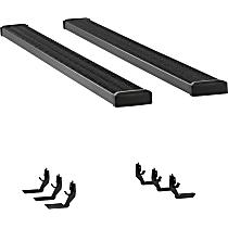 415088-401632 7 in. Grip Step Series Running Boards - Powdercoated Textured Black, Set of 2