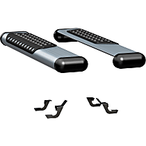 Luverne O-Mega II 6 in. Running Boards - Powdercoated Silver, Set of 2